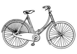 Велосипед картинки раскраски (3)