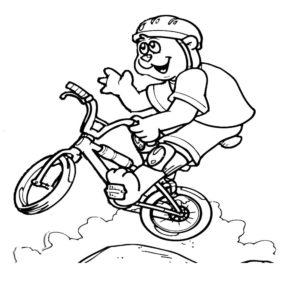 Велосипед картинки раскраски (30)