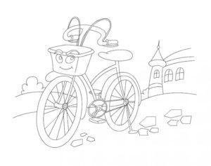 Велосипед картинки раскраски (31)