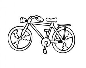 Велосипед картинки раскраски (32)