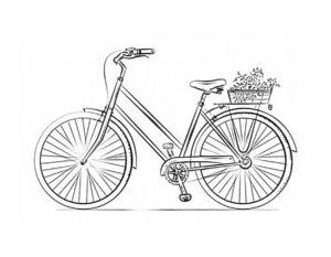 Велосипед картинки раскраски (34)
