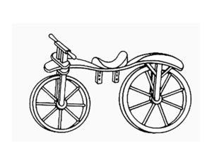 Велосипед картинки раскраски (35)