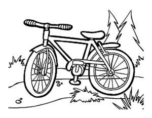Велосипед картинки раскраски (36)