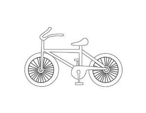 Велосипед картинки раскраски (37)