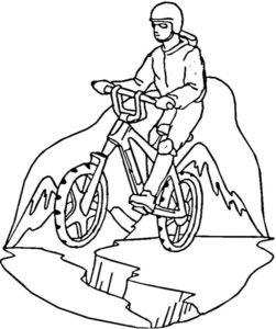 Велосипед картинки раскраски (38)