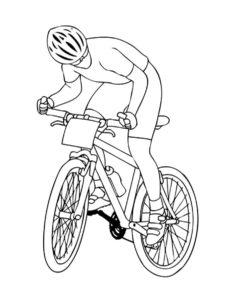 Велосипед картинки раскраски (39)