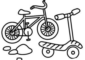 Велосипед картинки раскраски (4)