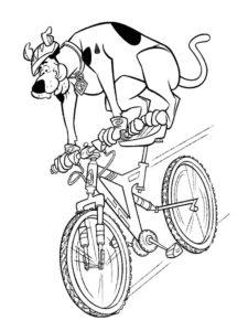 Велосипед картинки раскраски (40)