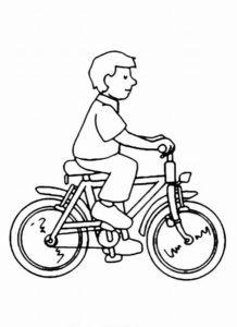 Велосипед картинки раскраски (42)