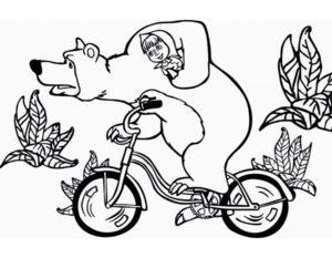 Велосипед картинки раскраски (43)