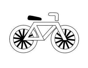 Велосипед картинки раскраски (44)