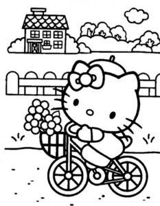 Велосипед картинки раскраски (47)