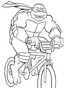 Велосипед картинки раскраски (48)