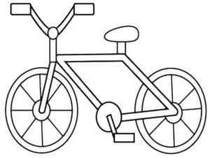 Велосипед картинки раскраски (49)