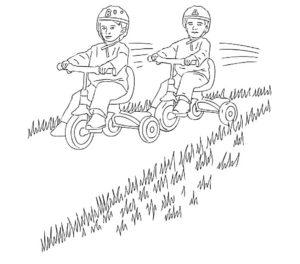 Велосипед картинки раскраски (5)