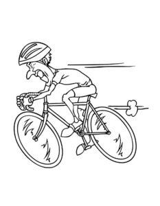 Велосипед картинки раскраски (51)