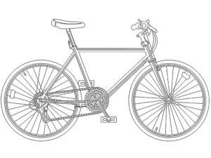 Велосипед картинки раскраски (53)