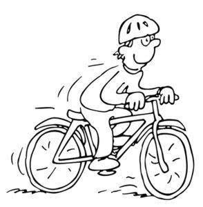 Велосипед картинки раскраски (54)