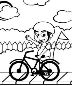 Велосипед картинки раскраски (55)