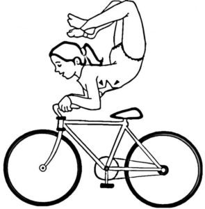 Велосипед картинки раскраски (57)