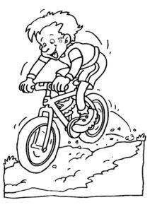 Велосипед картинки раскраски (59)
