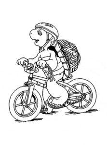 Велосипед картинки раскраски (6)