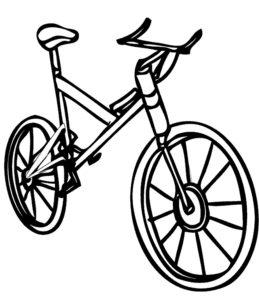Велосипед картинки раскраски (61)