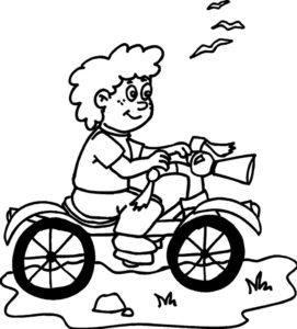 Велосипед картинки раскраски (62)