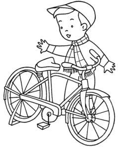 Велосипед картинки раскраски (63)