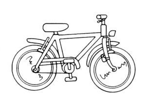 Велосипед картинки раскраски (64)