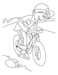 Велосипед картинки раскраски (67)