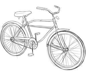 Велосипед картинки раскраски (69)