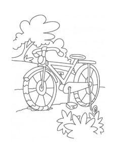 Велосипед картинки раскраски (7)