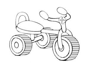 Велосипед картинки раскраски (72)