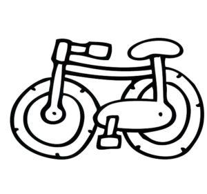 Велосипед картинки раскраски (9)