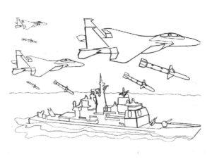 Военная техника картинки раскраски (11)