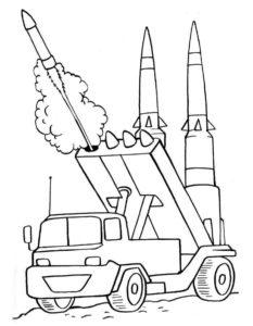 Военная техника картинки раскраски (13)