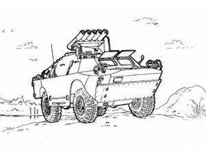 Военная техника картинки раскраски (14)