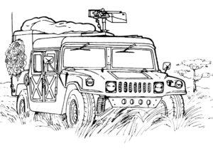 Военная техника картинки раскраски (17)