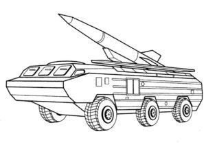 Военная техника картинки раскраски (5)