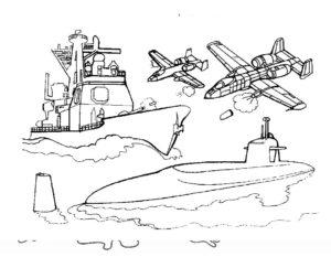 Военная техника картинки раскраски (7)