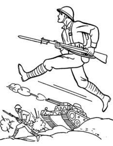 Военные солдаты картинки раскраски (1)