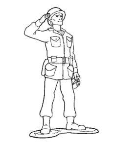 Военные солдаты картинки раскраски (10)