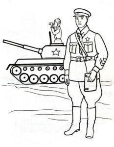 Военные солдаты картинки раскраски (12)