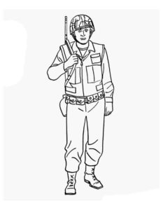 Военные солдаты картинки раскраски (14)