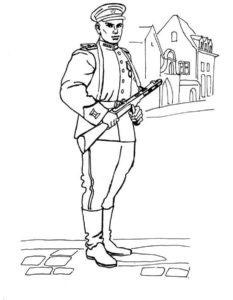 Военные солдаты картинки раскраски (15)