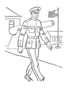 Военные солдаты картинки раскраски (17)