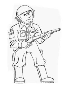 Военные солдаты картинки раскраски (18)
