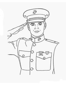 Военные солдаты картинки раскраски (2)