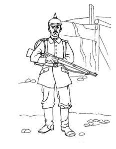 Военные солдаты картинки раскраски (20)